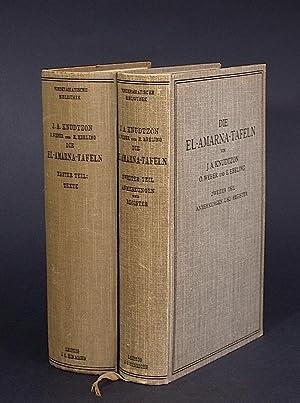 Die El-Amarna-Tafeln. Mit Einleitung und Erläuterungen. I. Die Texte; II. Anmerkungen und ...