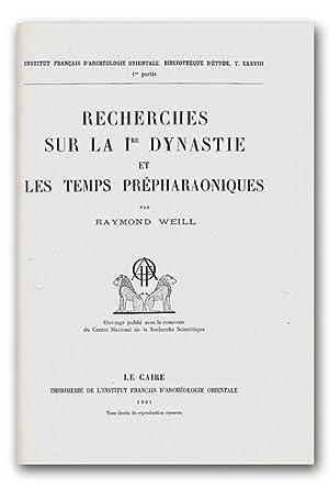 Recherches sur la 1re dynastie et les temps prépharaoniques, I-II. [première; 1&...