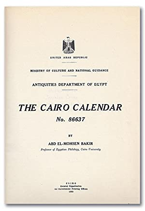 The Cairo Calendar No. 86637. (Antiquities Department of Egypt).