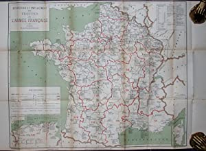 Carte de la répartition et de l'emplacement des troupes de l'Armée fran&...