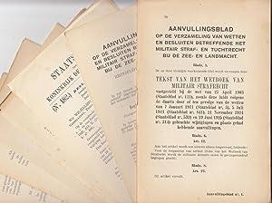 Verzameling van wetten en besluiten betreffende het militair straf- en tuchtrecht bij de zee- en ...