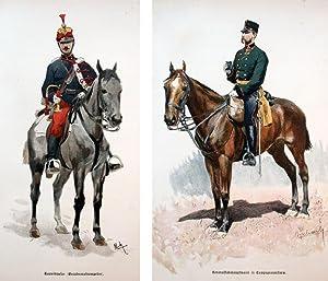 Unter den Fahnen. Die Völker Österreich-Ungarns in Waffen.: Danzer, Alfons. Illustrations...