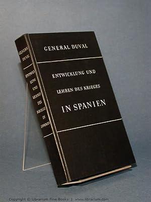 Entwicklung und Lehren des Krieges in Spanien. [Les Leçons de la Guerre d'Espagne].: ...