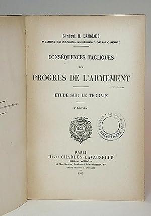 Conséquences tactiques des progrès de l'armement. Étude: Langlois, Général H.