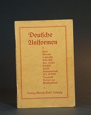 Deutsche Uniformen und Abzeichen auf 20 Tafeln: Starke, T., Julius