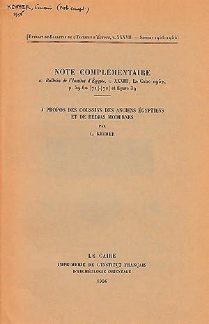 Note complémentaire au Bulletin de l'Institut d'Égypte,: Keimer, Ludwig (Louis)