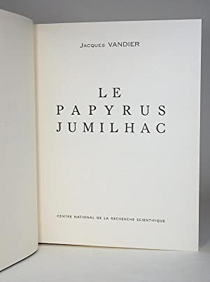 Le papyrus Jumilhac. I. Text; II. Plates. [TWO VOLUMES].