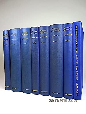 Ramesside Inscriptions, Historical and Biographical, I-VIII. [EIGHT VOLUMES].