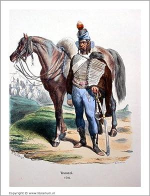 """Histoire de l'Empereur Napoléon] """"Hussard, 1795"""" (caption title). [Collection..."""