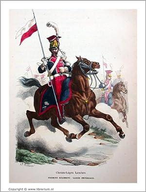 """Histoire de l'Empereur Napoléon] """"Chevau-Légers Lanciers, Premier Ré..."""