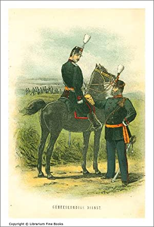 Dutch Military Uniforms] Geneeskundige Dienst (caption title). [ORIGINAL CHROMOLITHOGRAPH PRINT].: ...