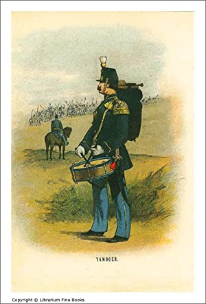 Dutch Military Uniforms] Tamboer (caption title). [ORIGINAL CHROMOLITHOGRAPH PRINT].: Brunings, ...