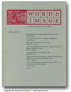 Words & Image. A Journal of Verbal/Visual Enquiry. January-March 1995.