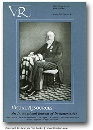 Visual Resources. An International Journal of Documentation. Volume VIII (8), Number 4.