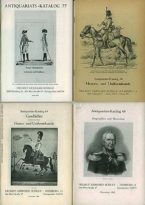 Heeres- und Uniformkunde: Helmut Gerhard Schulz Antiquariats-Kataloge 60-78, 1957-1976. [A ...