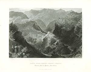 Syria, Holy Land, Asia Minor] Castle Near Djouni, Mount Lebanon (caption title). [ORIGINAL STEEL ...