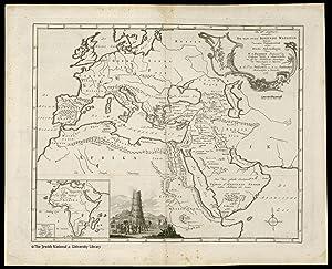 Atlas van het Heilige Land] De Xde Landkaart vertonende De van ouds Bekende Waereld beneven ...