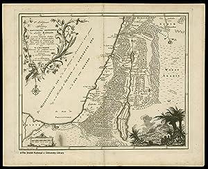 Atlas van het Heilige Land] De Iste Landkaart of Afbeelding van de Natuurlyke Gesteldheid des Lands...