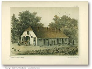 COUNTRY LIFE & FARMING: Original 19th Century Tinted Lithograph Print.