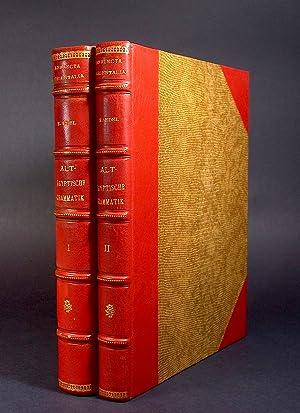 Altägyptische Grammatik, I-II. (Analecta Orientalia, 34/39). [AND:] Register der Zitate. ...