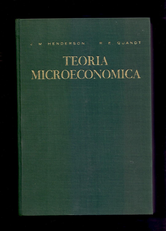 henderson y quandt teoria microeconomica