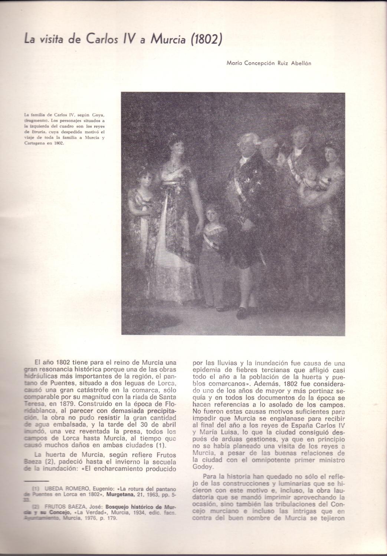 La Visita De Carlos Iv A Murcia El Ano 1802