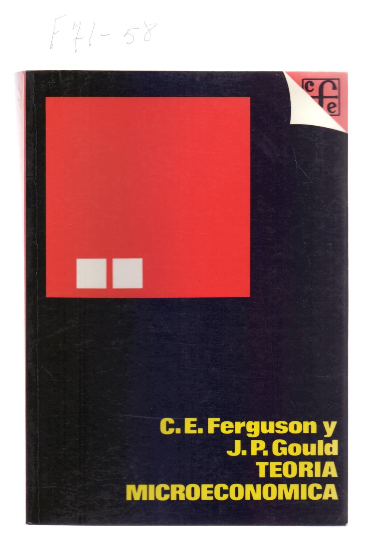 teoria microeconomica ferguson