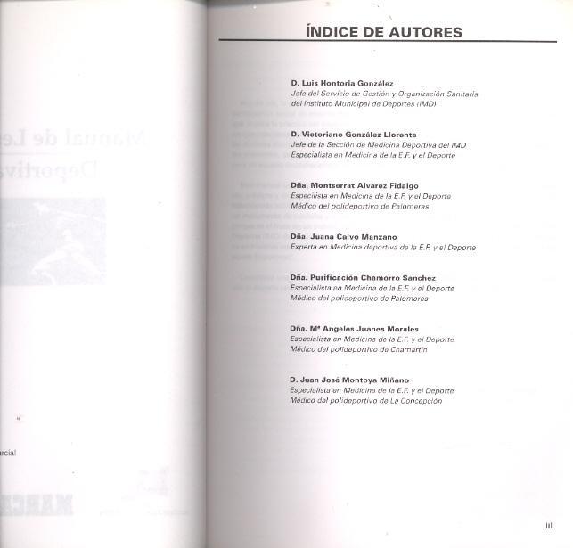 MANUAL DE LESIONES DEPORTIVAS de Luis Hontoria Gonzalez, Victoriano ...