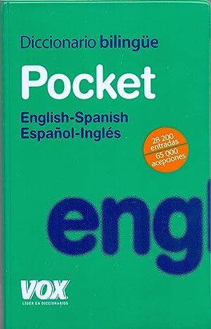 DICCIONARIO BILINGUE POCKET - ENGLISH-SPANISH, ESPAÑOL-INGLES (28.200 entradas, 65.000 ...