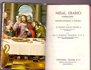 MISAL DIARIO CASTELLANO (devocionario y ritual): Editorial Valles
