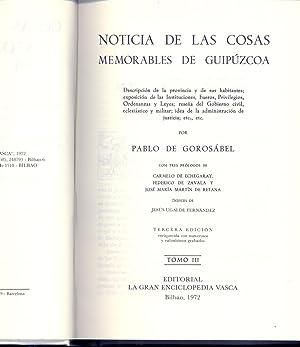 NOTICIAS DE LAS COSAS MEMORABLES DE GUIPUZCOA: Pablo de Gorosabel