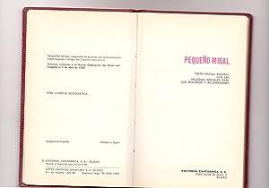PEQUEÑO MISAL (texto oficial español con las melodias oficiales para los dialogos y ...