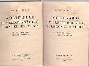 DICCIONARIO DE ELECTRICIDAD Y TELECOMUNICACIONES- ESPAÑOL ALEMAN,ALEMAN-ESPAÑOL , ...