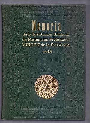 MEMORIA DE LA INSTITUCION SINDICAL DE FORMACION: Virgen de la