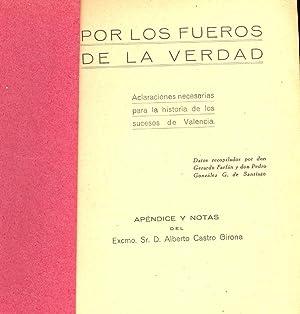 POR LOS FUEROS DE LA VERDAD (ACLARACIONES: Gerardo Farfan y