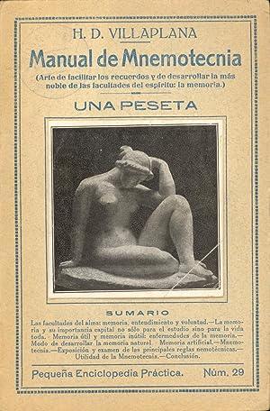 MANUAL DE MNEMOTECNIA: H. D. Villaplana