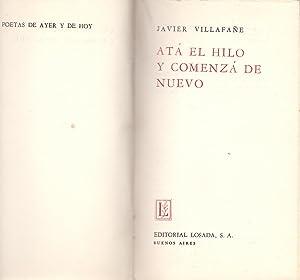 ATA EL HILO Y COMIENZA DE NUEVO: Javier Villafañe