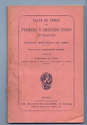 CLAVE DE TEMAS DEL PRIMERO Y SEGUNDO: Eugenio de Ochoa