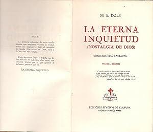 LA ETERNA INQUIETUD: M. B. Kolb