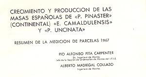 CRECIMIENTO Y PRODUCCION DE LAS MASAS ESPAÑOLAS: Pio Alfonso Pita