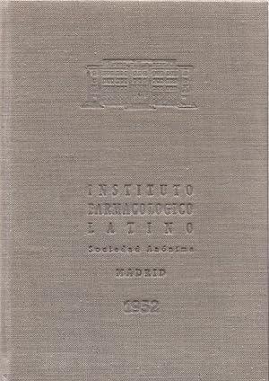 VADEMECUM DE LAS ESPECIALIDADES DEL INSTITUTO FARMACOLOGICO LATINO - 1952 -: Instituto ...