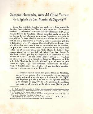 GREGORIO HERNANDEZ AUTOR DEL CRISTO YACENTE DE LA IGLESIA DE SAN MARTIN DE SEGOVIA: Juan de Vera