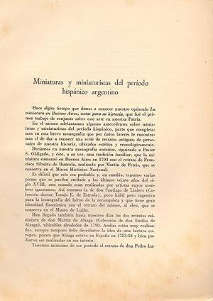 MINIATURAS Y MINIATIRISTAS DEL PERIODO HISPANO ARGENTINO: Rodolfo Trostine