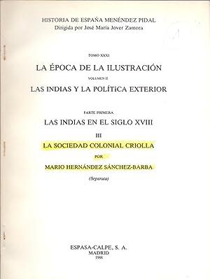 LA SOCIEDAD COLONIAL CRIOLLA: Mario Hernandez Sanchez-Barba