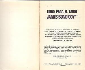 LIBRO PARA EL TAROT, JAMES BOND 007: Stuart R. Kaplan