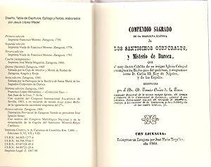 COMPENDIO SAGRADO DE LA PEREGRINA HISTORIA DE LOS SANTOS CORPORALES Y MISTERIO DE DAROCA (edicion ...