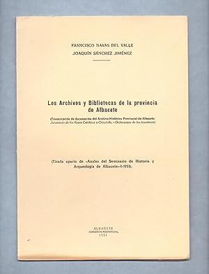 LOS ARCHIVOS Y BIBLIOTECAS DE LA PROVINCIA: Francisco Navas del