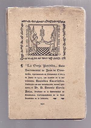 LA OBEJA PERDIDA, AUTO SACRAENTAL DE JUAN: Juan de Timoneda