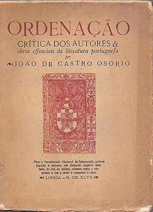 ORDENACAO CRITICA DOS AUTORES & OBRAS EFFENCIAIS: Joao de Castro