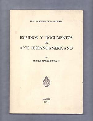 ESTUDIOS Y DOCUMENTOS DE ARTE HISPANOAMERICANO -: Enrique Marco Dorta